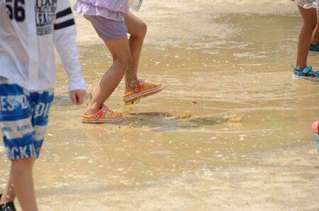 1学期最後の水遊び